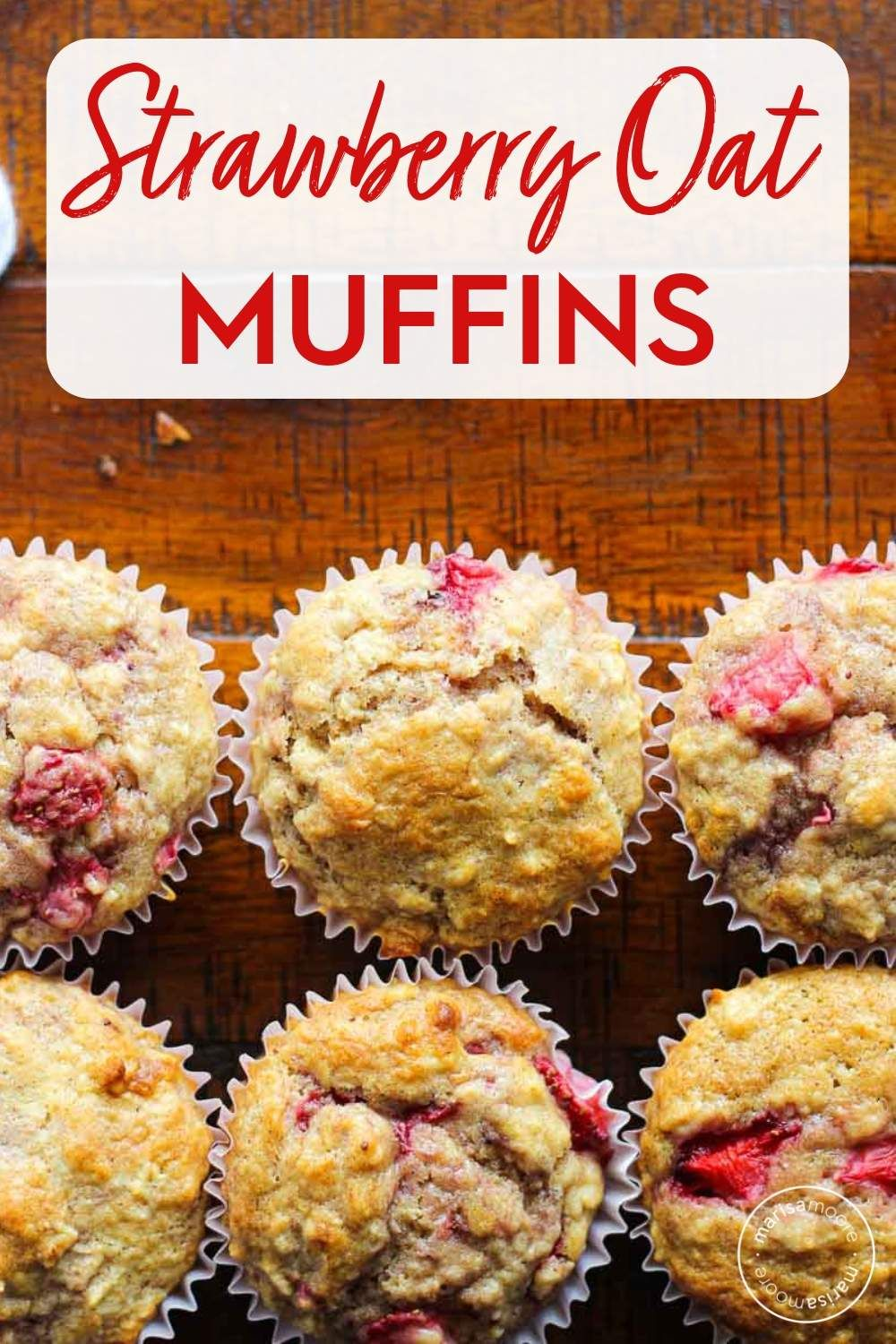 Fresh Strawberries Oats And Buttermilk Combine In These Healthy Breakfast Muffins That Fresh Strawberry Recipes Strawberry Oatmeal Muffins Buttermilk Recipes
