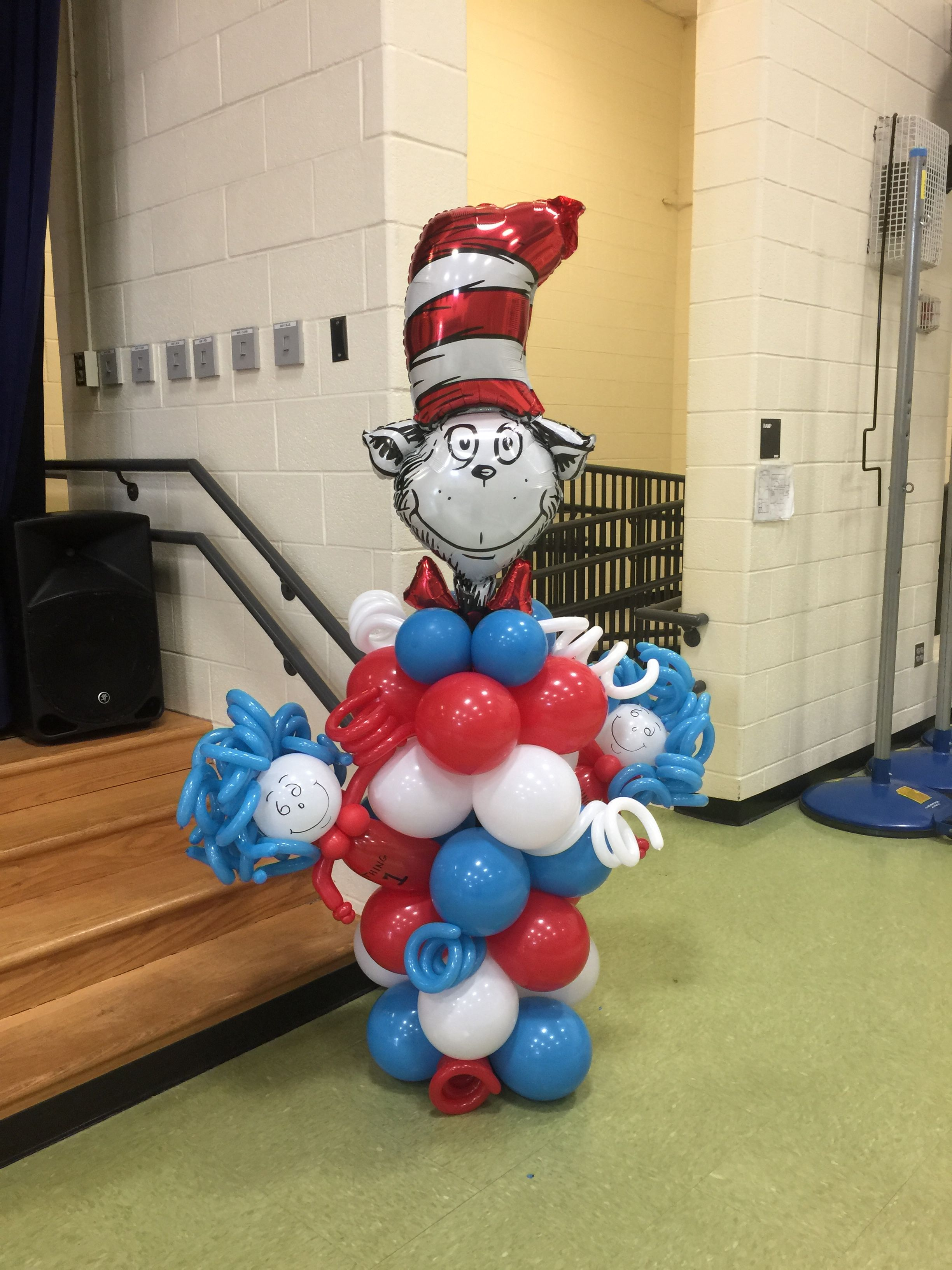 Cat In The Hat With Thing 1 Thing 2 Balloon Decorations Halloween Balloons Balloons