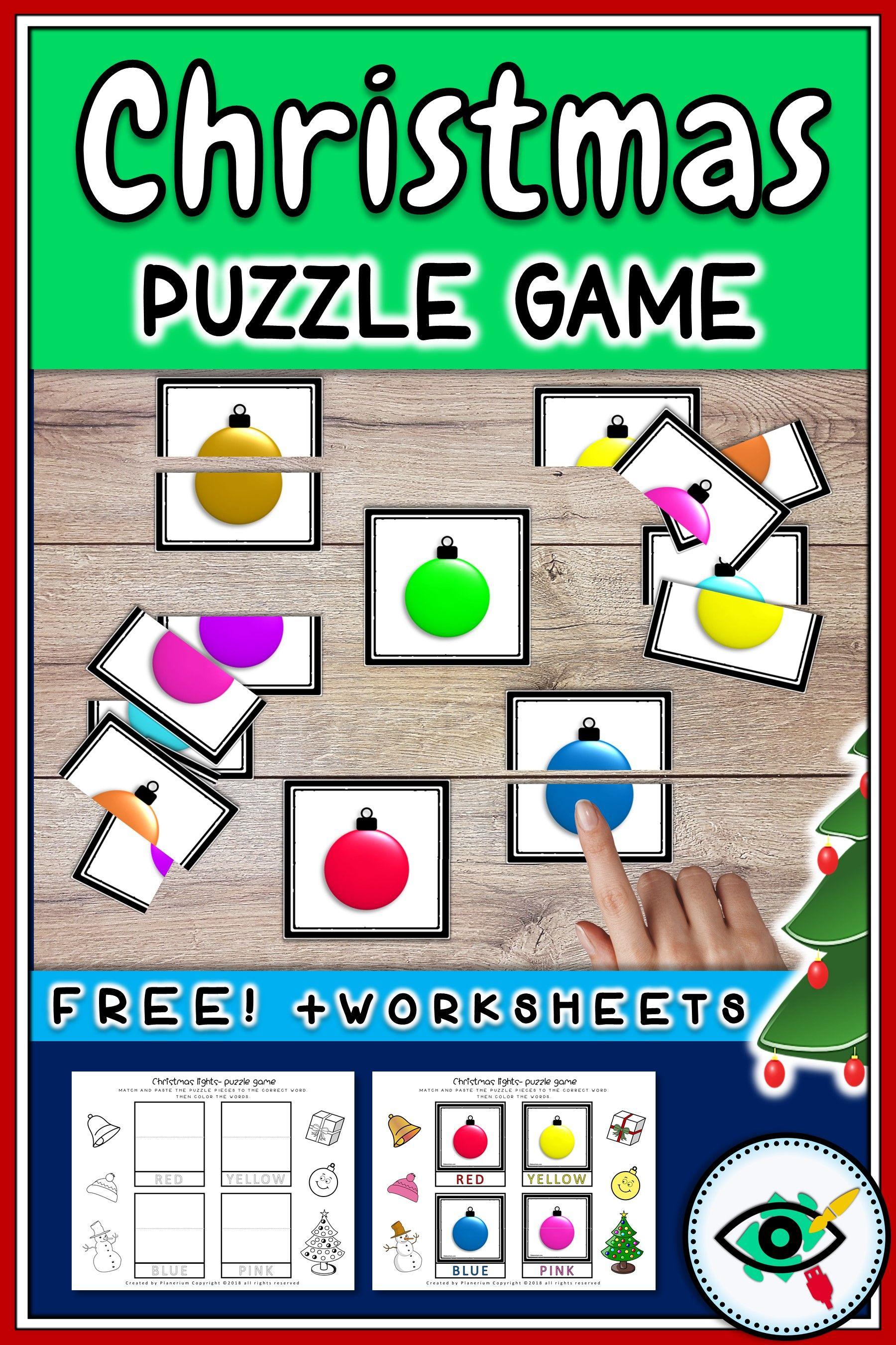 Christmas Puzzle Game Printable