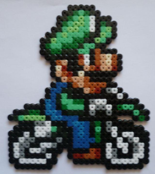 Luigi sur sa moto