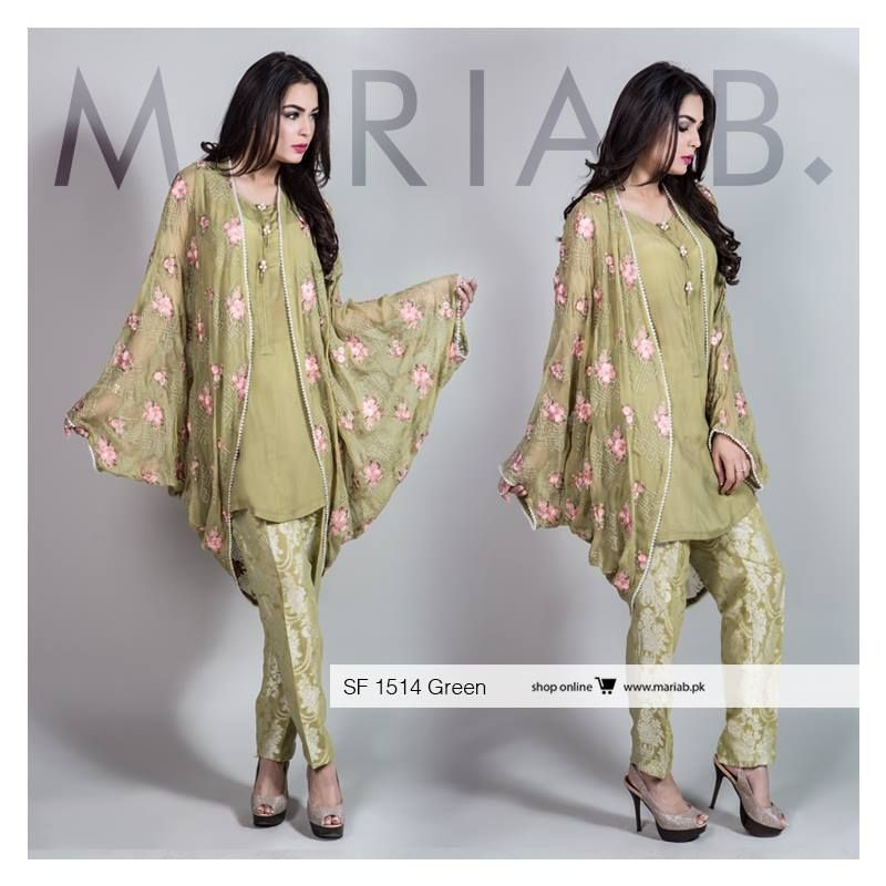 a018d5841 Maria B Stitched Eid Collection 2016-17 for Girls … | clothes | Dress…