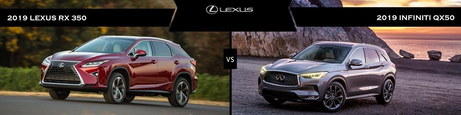 Infiniti Qx50 Vs Lexus Rx 350 Lexus Rx 350 Lexus Suv Comparison