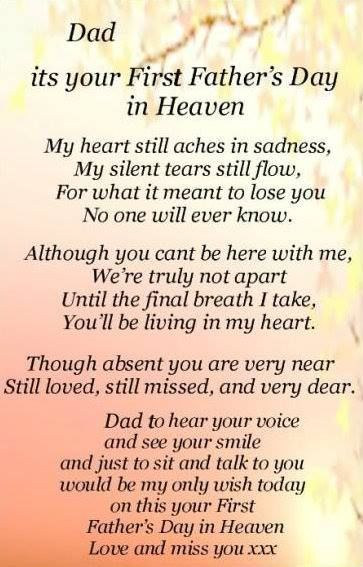 Dad Its Your First Father's Day In Heaven Fathers day in