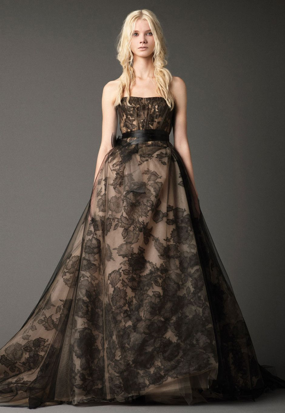 Superb Black Gold Wedding Dress by Vera Wang