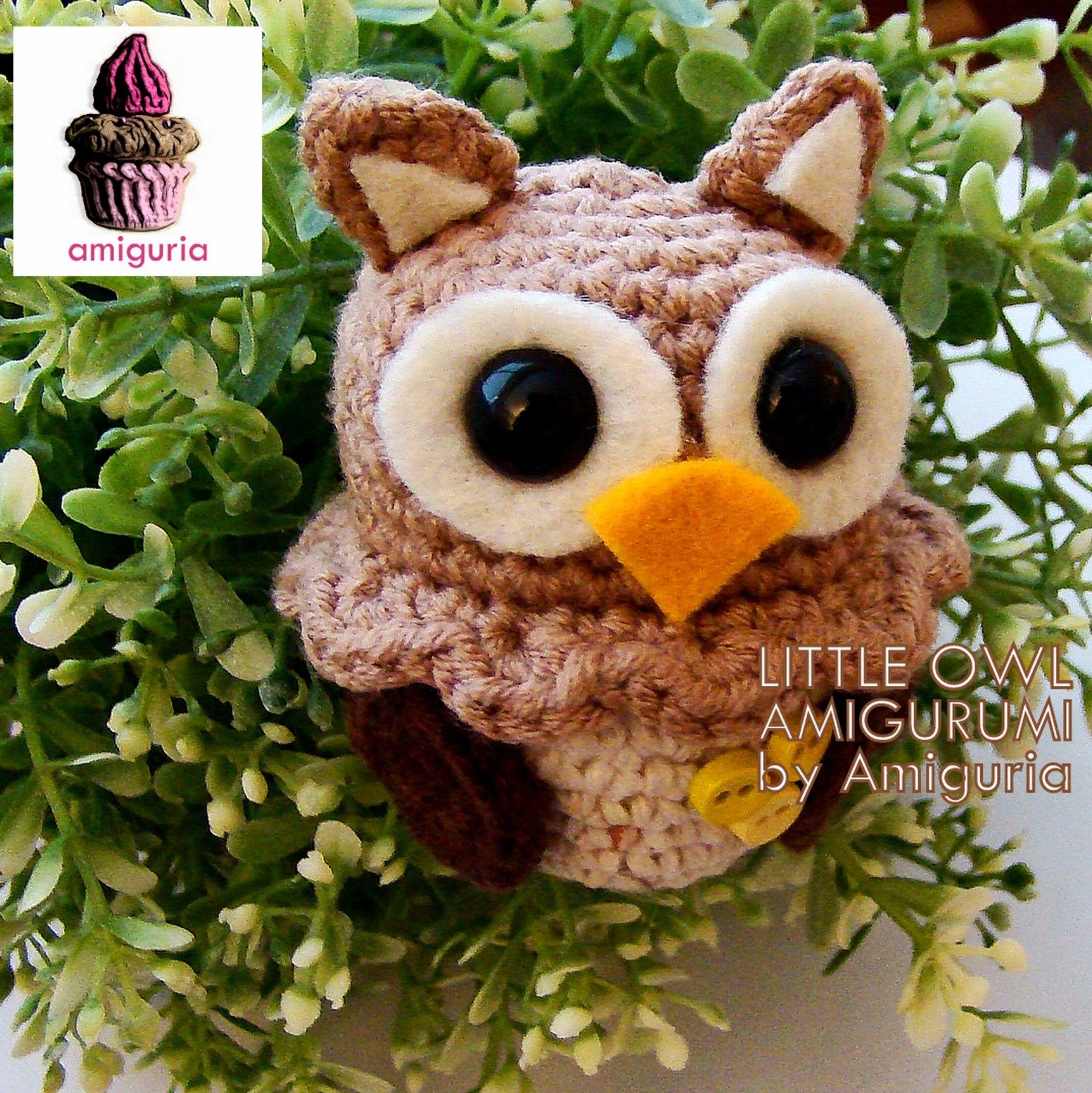 Little owl Amigurumi by Amiguria | Amigurumi by Amiguria | Pinterest ...