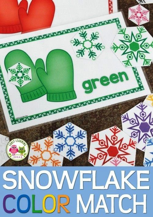 | Color Sort Activity | Preschool Winter Activities        A snowflake, snow, and winter themed col