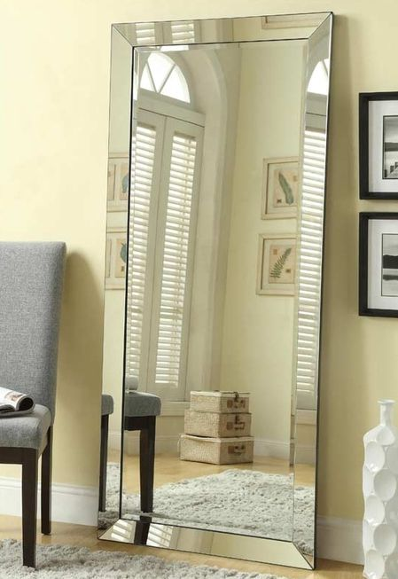 This Beautiful Floor Mirror Boasts Of Contemporary Style