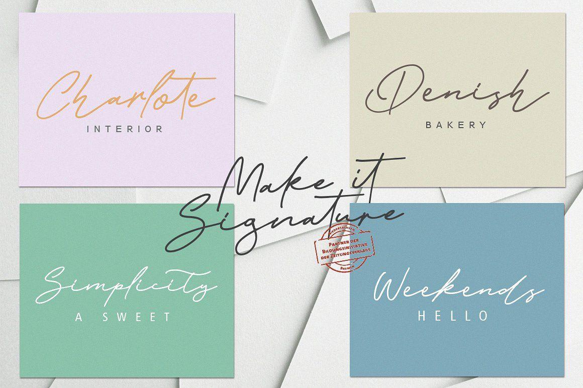 Baker Jackson Signature font for your branding Signature