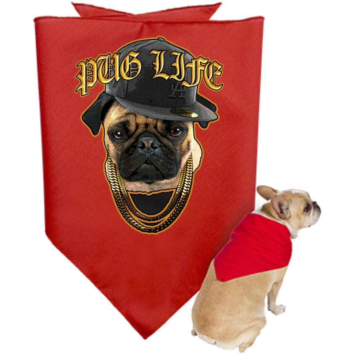 Pug Life #5 3905 Doggie Bandana