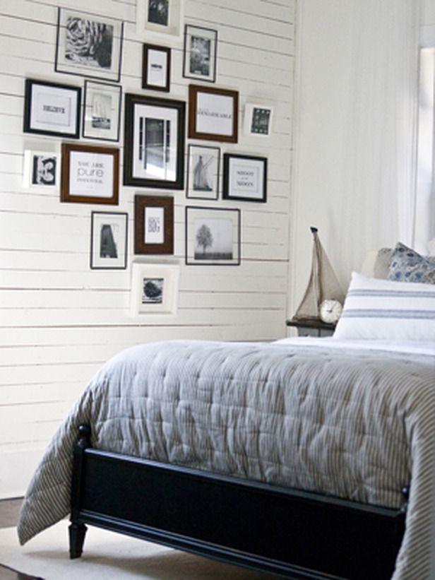 Bedroom wall art arrangement. Love this!