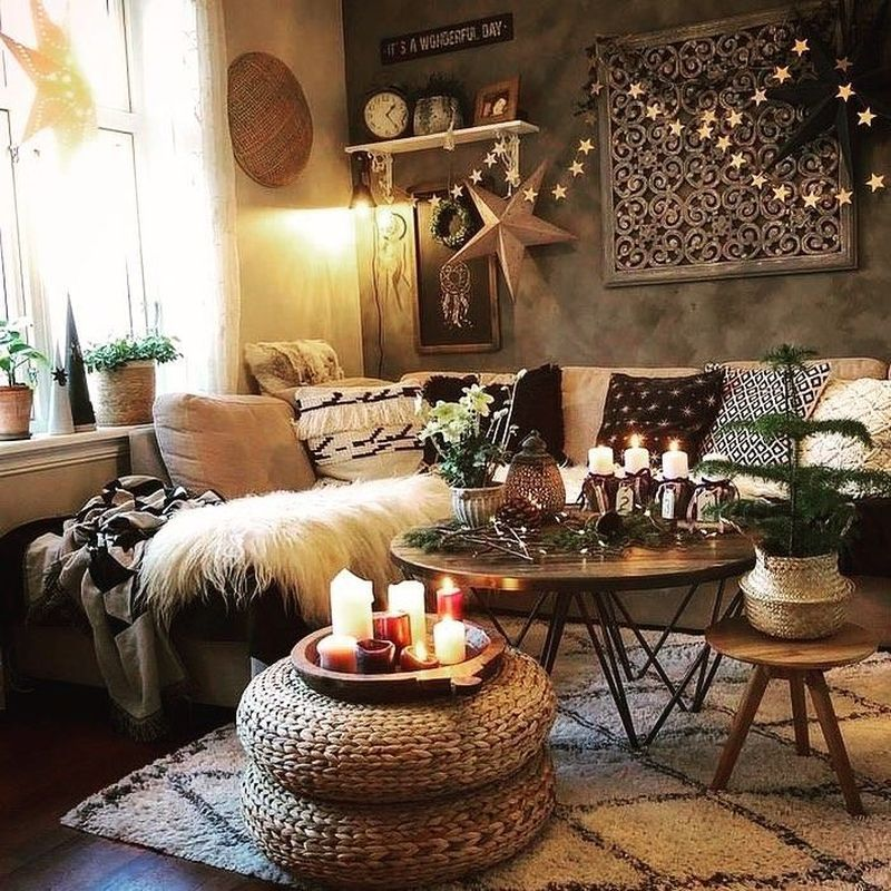 40 Cozy Stylish Bohemian Home Decor Ideas In 2020 Boho Living Room Home Decor Hacks Room Decor