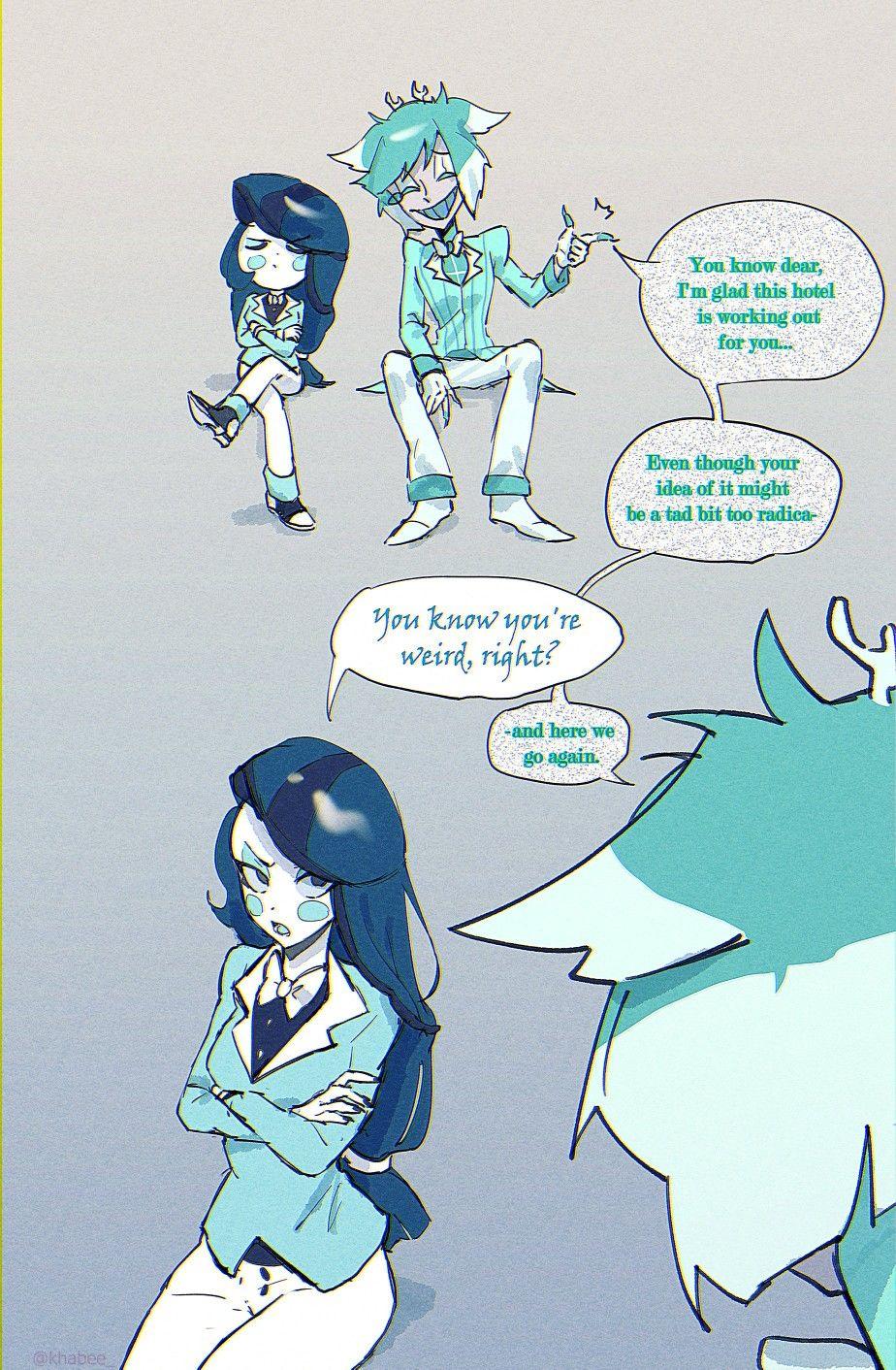 Pin oleh Rei akamura di Hazbin Hotel Gambar manga