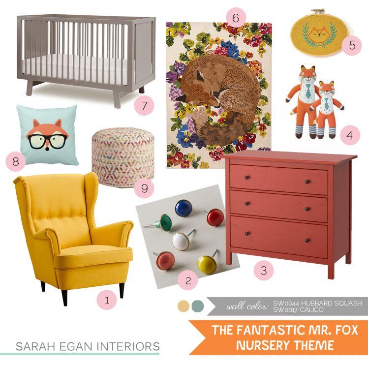 Nursery Theme The Fantastic Mr Fox Nursery Themes Fox Themed Nursery Baby Sleep Problems