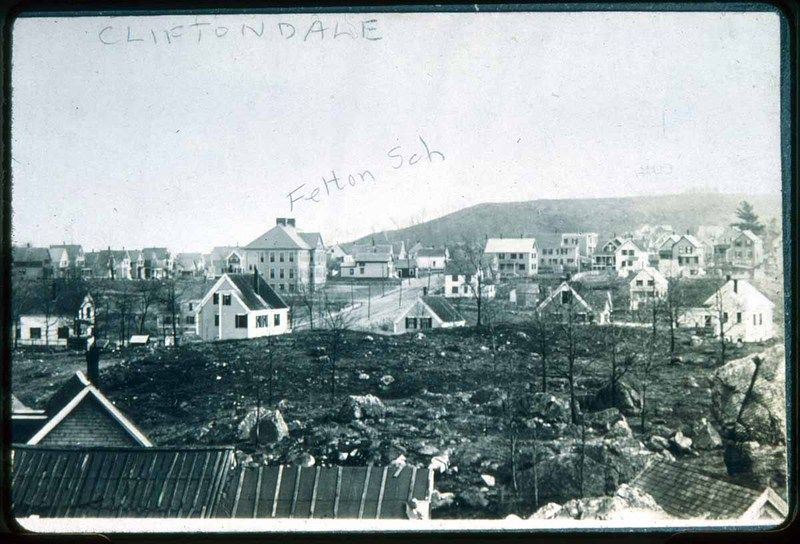 Felton School In Back View From About Makepeace Street Saugus