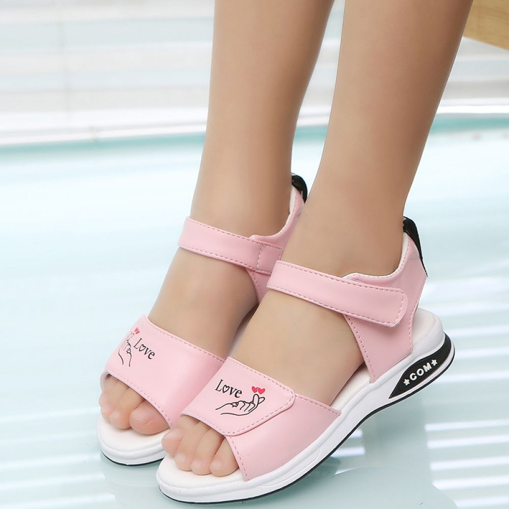 Girl's Cute Flat Rubber Sandals