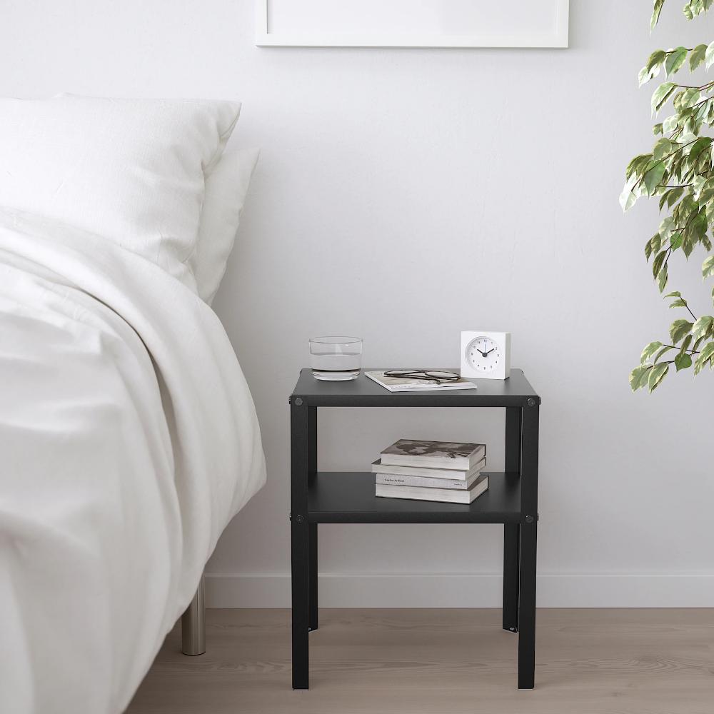 KNARREVIK Table chevet, noir, 7x7 cm - IKEA  Table de chevet
