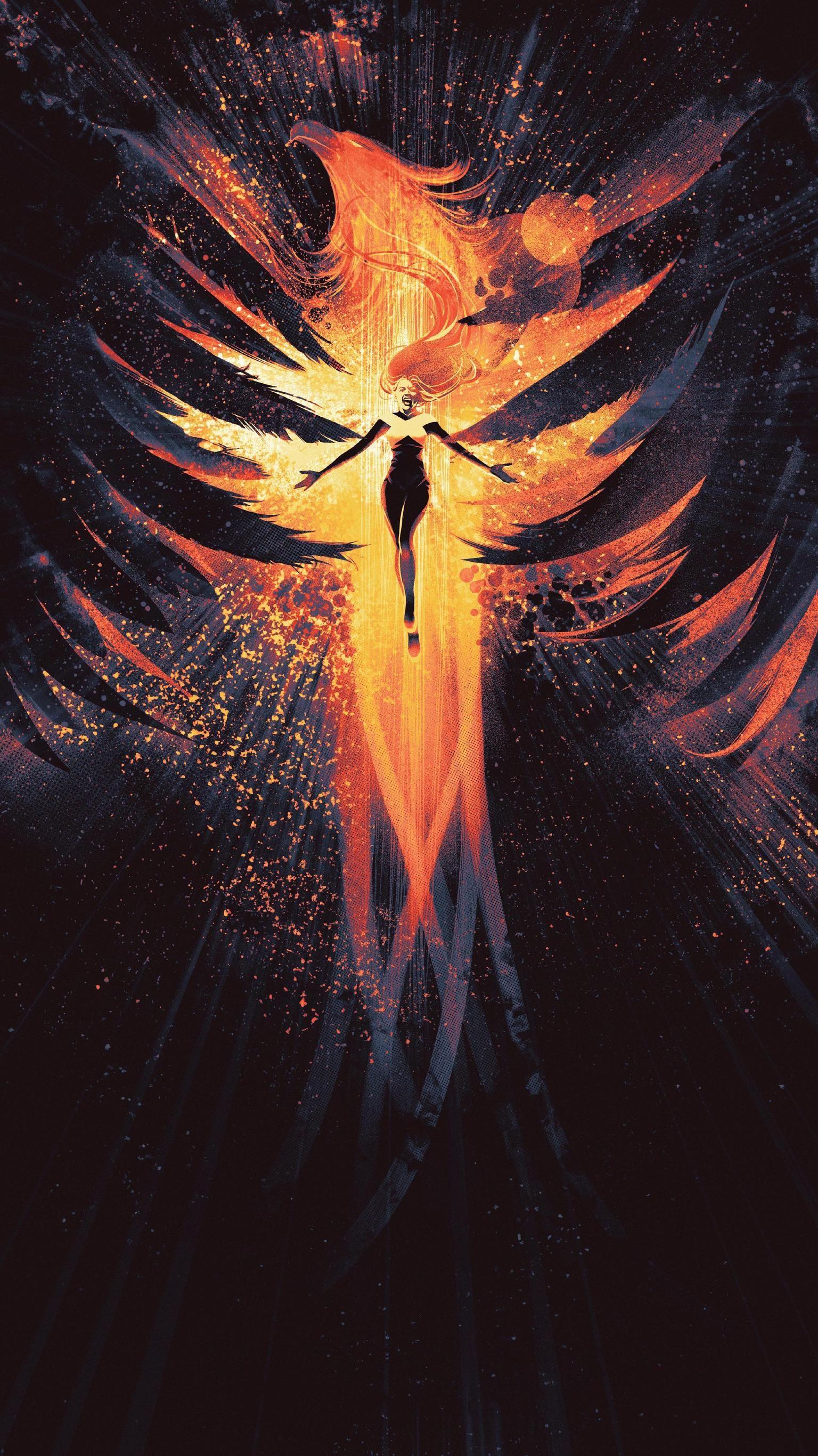 Dark Phoenix 2019 Phone Wallpaper In 2019 Phoenix Marvel