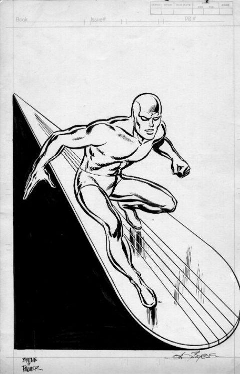 Silver Surfer by John Byrne, inks by Tom Palmer c.1982