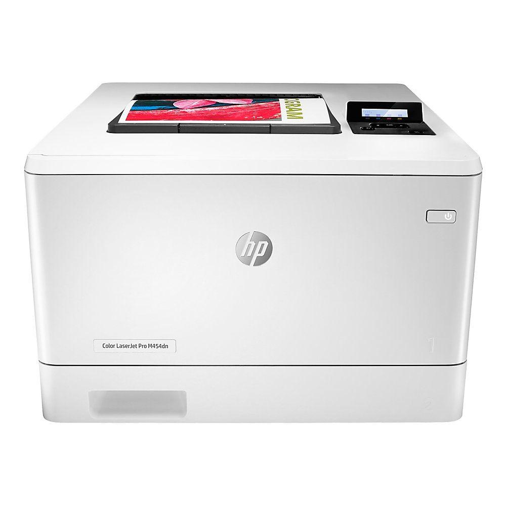 Hp Color Laserjet Pro M454dn Color Laser Printer Duplex Printing W1y44a Laser Printer Printer Hp Laser Printer