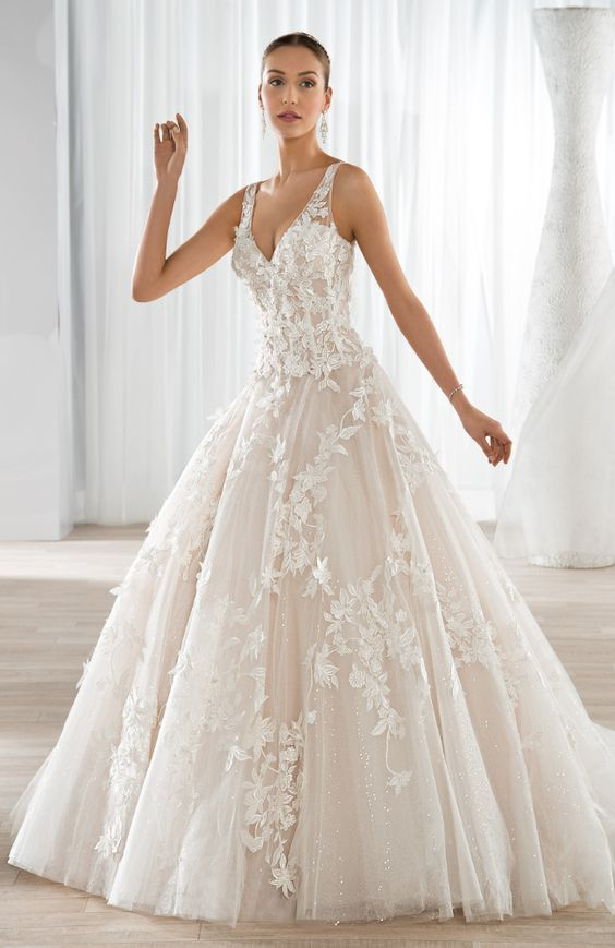 Wedding Dress Inspiration - Demetrios | Wedding dress, Dress ideas ...