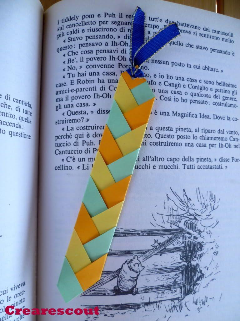 Braided paper bookmark