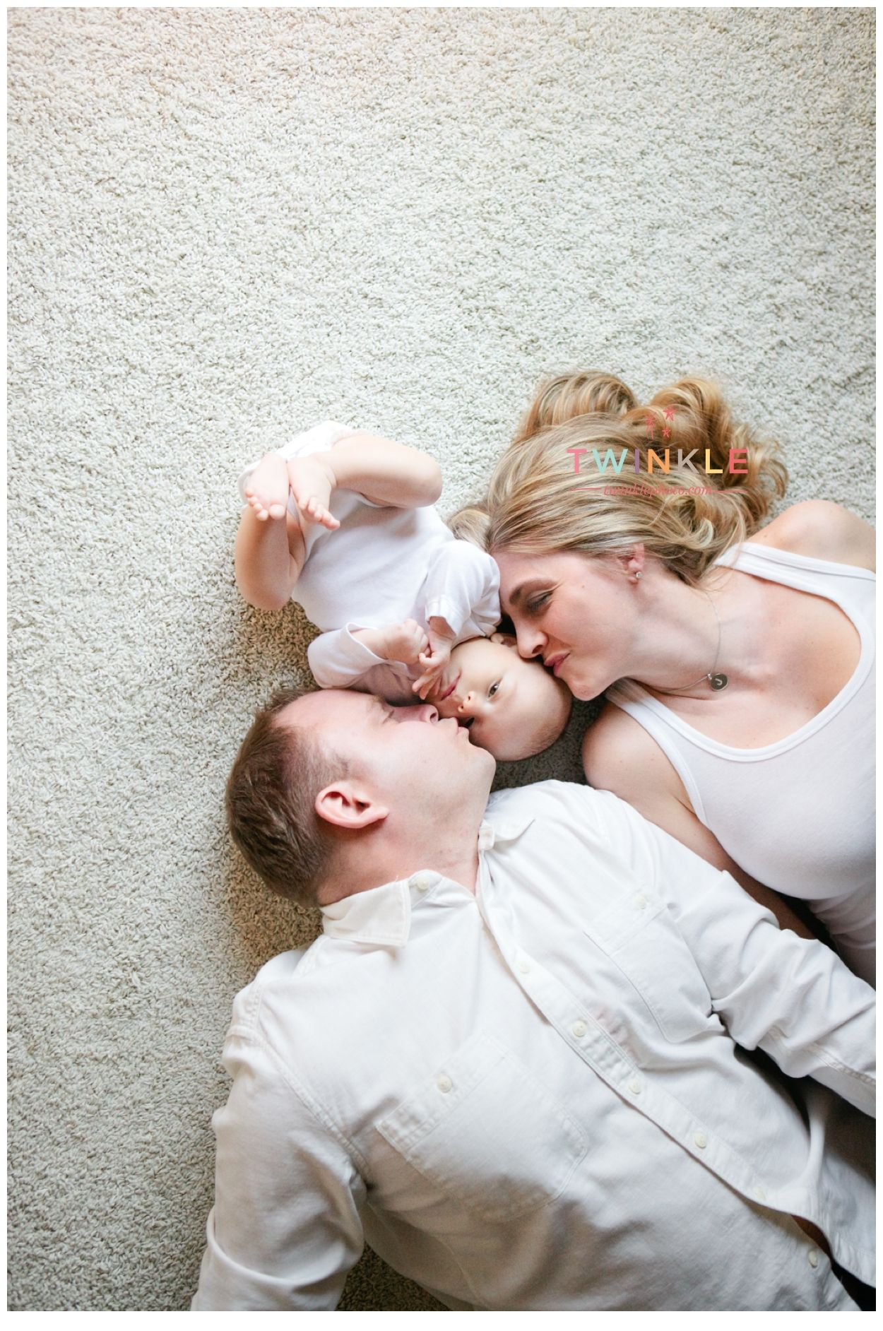 Mom and dad with 3 month old boy www twinklephoto com