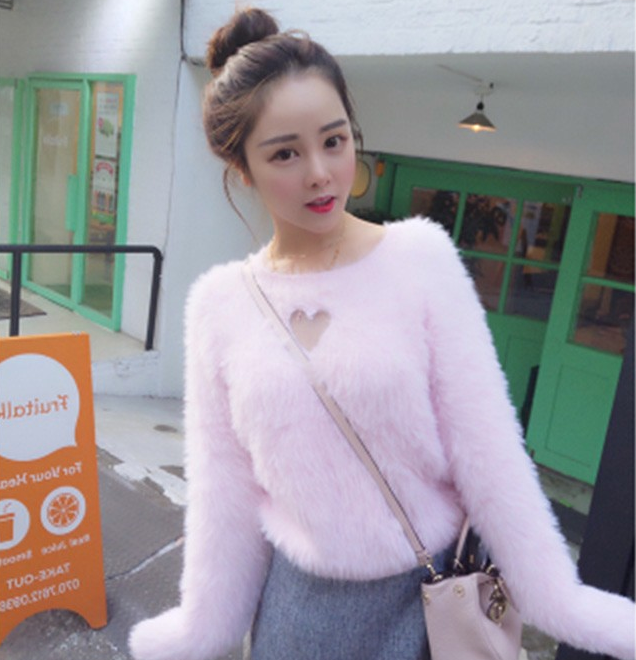 f91958826 Heart Keyhole Sweater (3 colors) via Cloud 97. Click on the image to ...