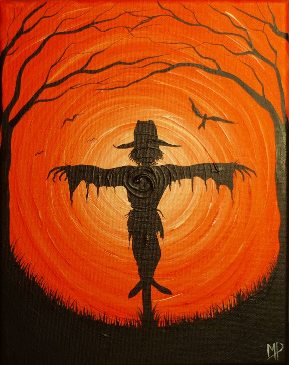 Best 25 scarecrow painting ideas on pinterest diy for What paint for canvas