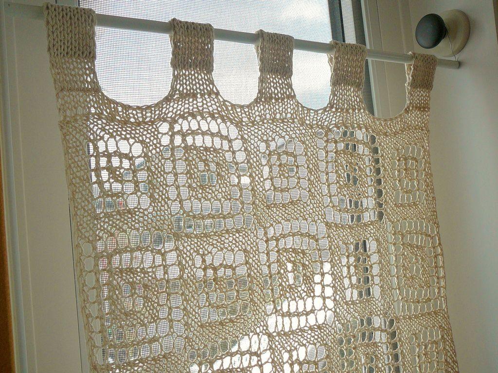 Blocks In Blocks Curtain By Lien Lu Free Crochet Pattern