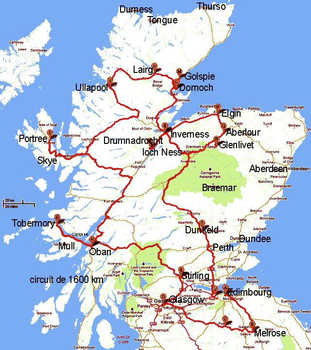 Carte Angleterre Ecosse.Circuit De 14 Jours En Ecosse Ecosse Mes Origines Scotland