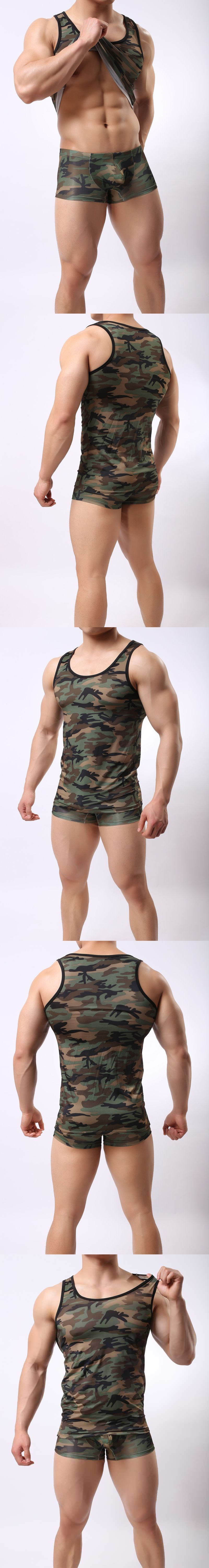 a033138de5b08 2017 New Camouflage Print Tank Top Mens Military Clothing Casual Mens Round  Neck Summer Sleeveless Elasticity