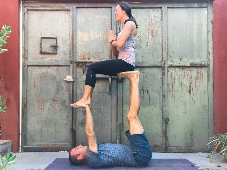 Couple S Yoga Poses 23 Easy Medium Hard Yoga Poses For Two People Couples Yoga Poses Yoga Poses For Two Couples Yoga