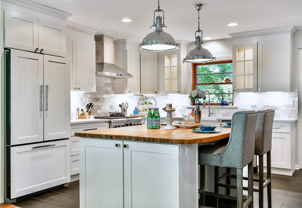 Windsor White Shaker Kitchen Cabinets in 2020 | Shaker ...