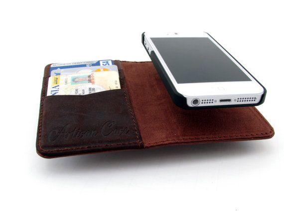 on sale b58a4 3481c iPhone 5s Leather Wallet Case with Detacha… | ap·ple·sauce ...