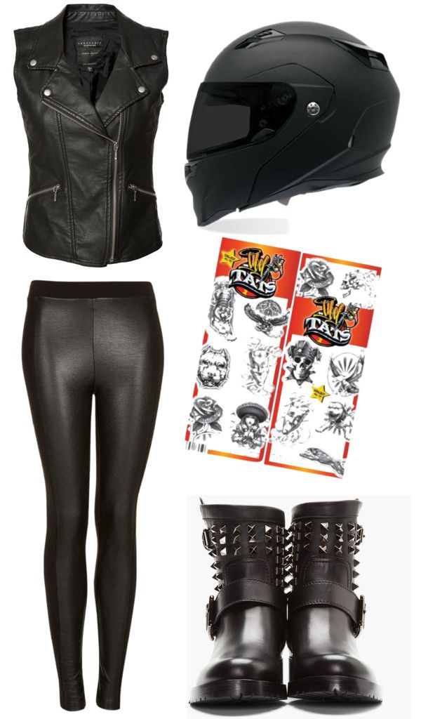 3098dc254b3b 5 Easy Last Minute Costume Ideas - Biker chick | halloweenie | Biker ...