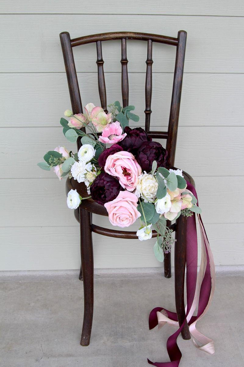 Wedding decorations inside church  Southern Girl Weddings  Silk flowers and Weddings