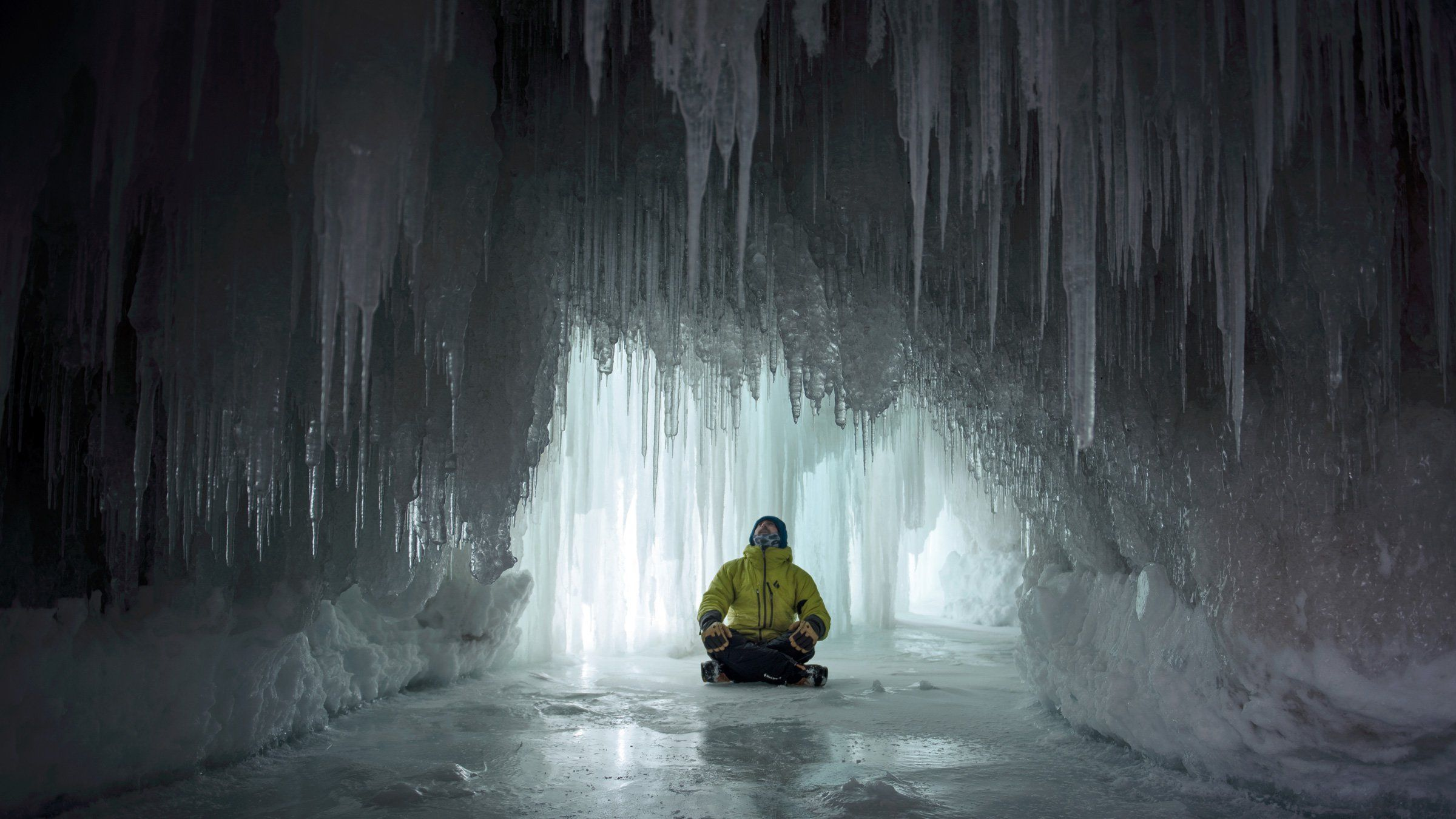 An Icy Michigan Landscape Becomes Conrad Anker's Playground