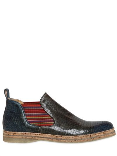 9eab4574d80 Stylish footwear for men by KOIL - PRINTED HAND PAINTED LEATHER BOOTS