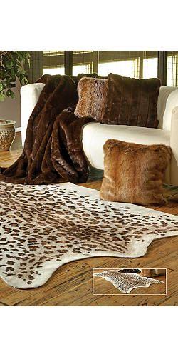 Faux Leopard Skin Rug