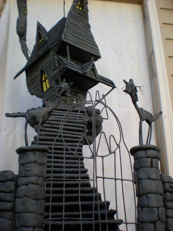 A nightmare before christmas, jacks haunted house. custom
