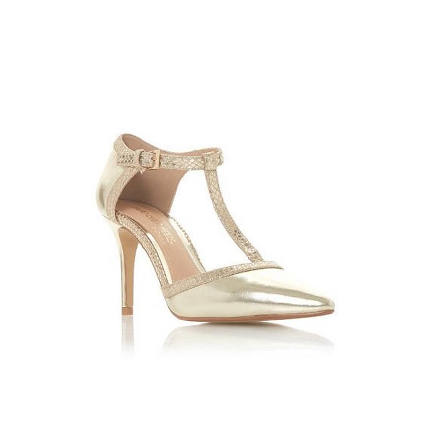 b1151e263c1 CARLINA - Point Toe T-Bar Court Shoe - gold
