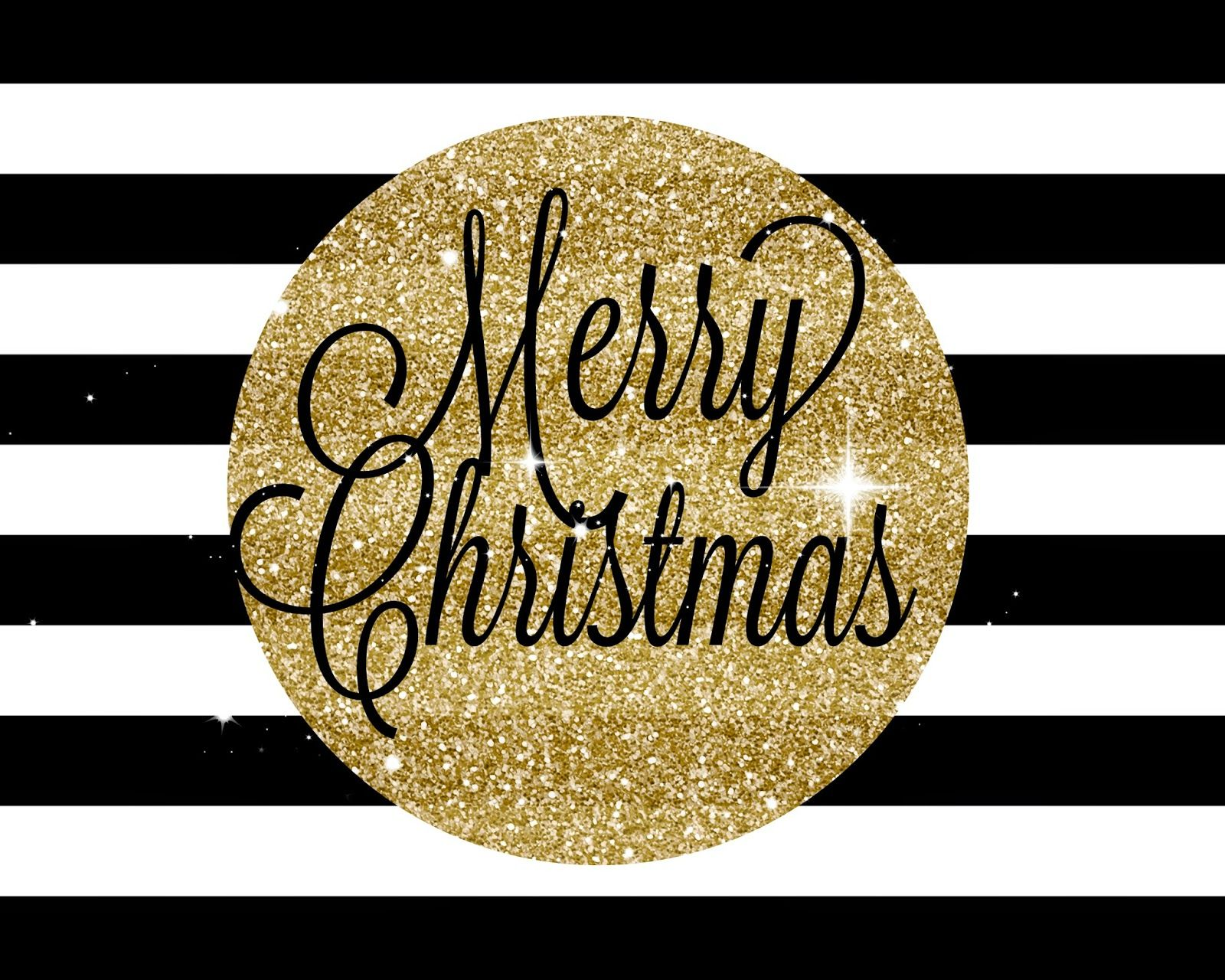 Mimi Lee Printables More Merry Christmas Black And Gold FREE PRINTABLE