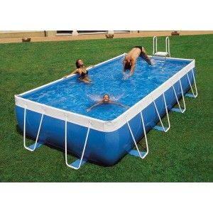 Inflatable Pool in 2020 | Rectangular pool, Portable ...
