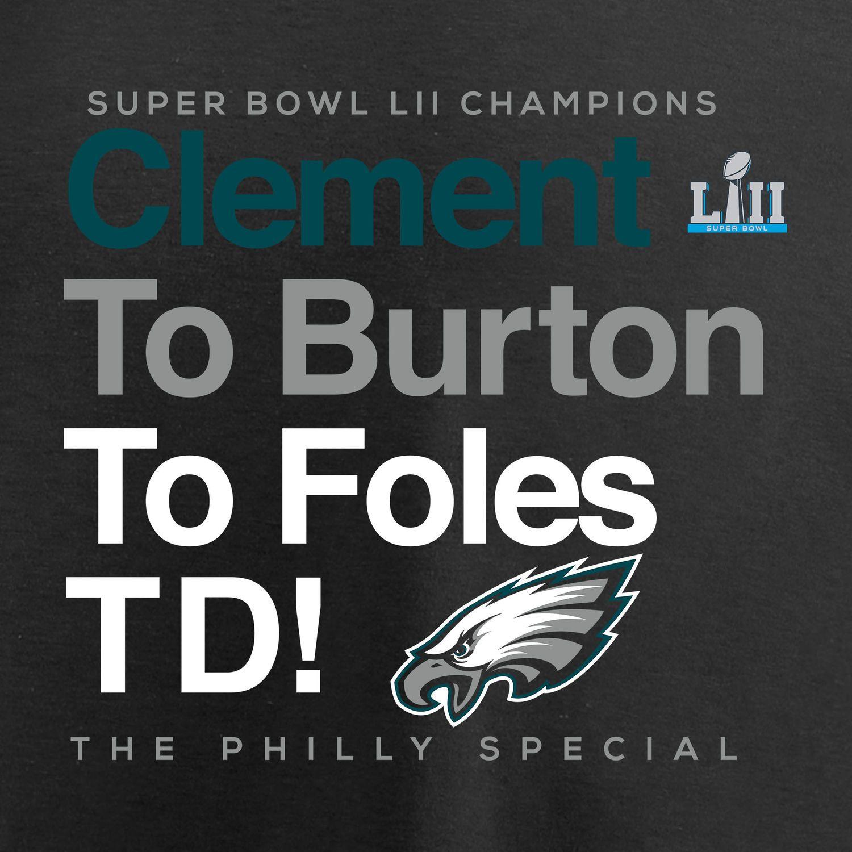 NFL Philadelphia Eagles Men/'s Super Bowl LII Champions T-Shirt Black New