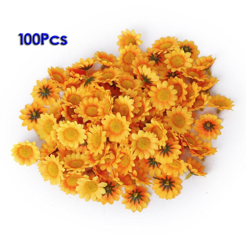 Wholesale 5pcs Lot Approx 100pcs Artificial Gerbera Daisy Flowers Heads For Diy Wedding Party China Mainland With Images Gerbera Daisy Gerbera Diy Wedding Decorations