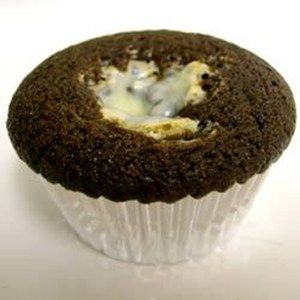 Rich chocolate cupcakes with cream cheese and chocolate chip center. Also known as Black Bottom Cupcakes.  Allrecipes.com