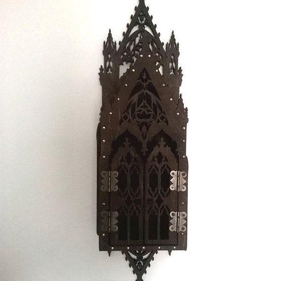 Gothic secret locked, medieval stylization, lamp inspired