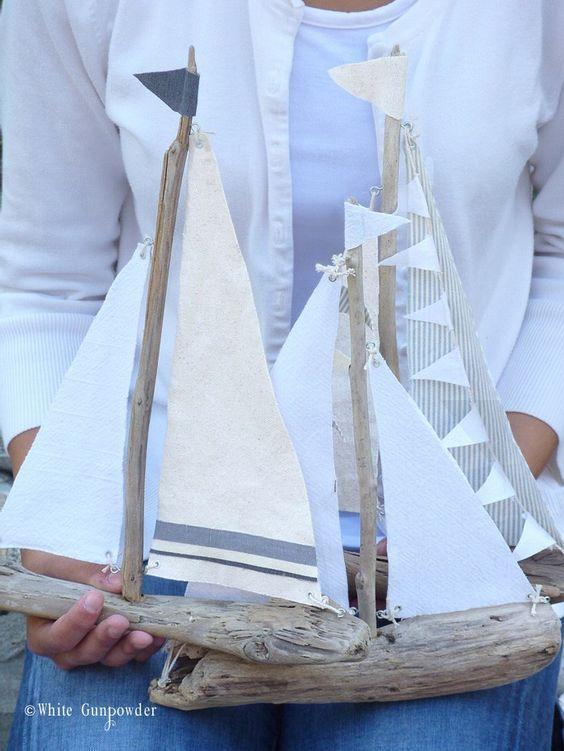 Diy Driftwood Sailboats Driftwood Crafts Beach Crafts