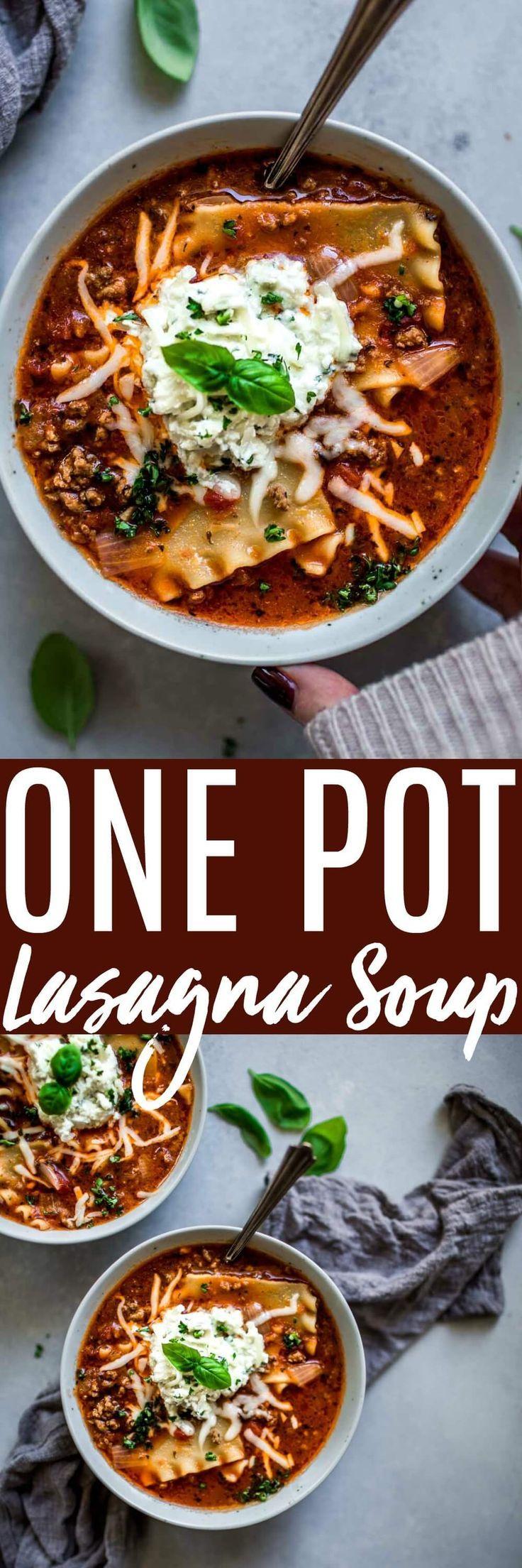 Lasagna Soup (One Pot Recipe)