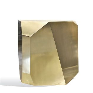 Hedge Stone Side Table Made From Brass, Scala Luxury
